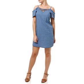 Vestido Curto Feminino Cativa Jeans Azul Claro M