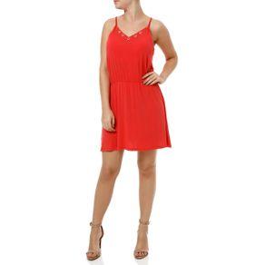 Vestido Curto Feminino Coral G