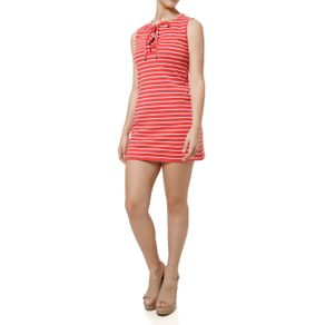 Vestido Curto Feminino Coral M