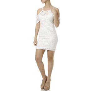 Vestido Curto Feminino Off White G