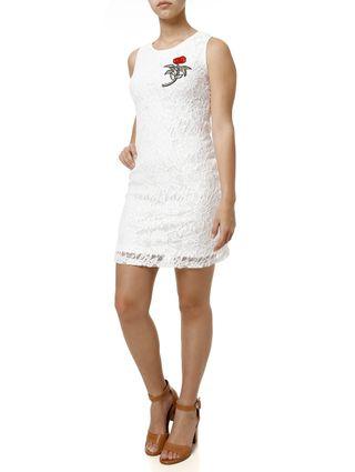 Vestido Curto Feminino Off White