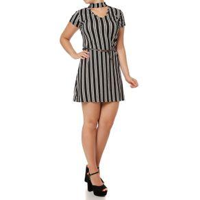 Vestido Curto Feminino Preto G