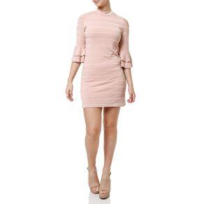 Vestido Curto Feminino Rosa G