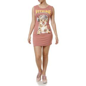 Vestido Curto Feminino Rosa M