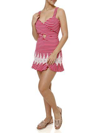 Vestido Curto Feminino Rosa