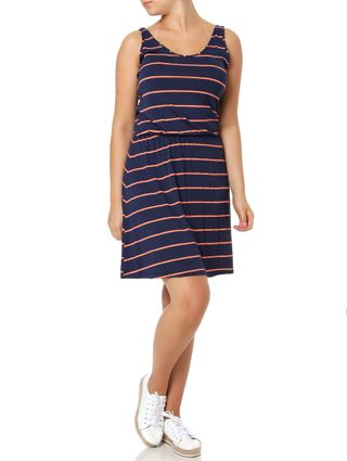 Vestido Curto Feminino Rovitex Azul Marinho