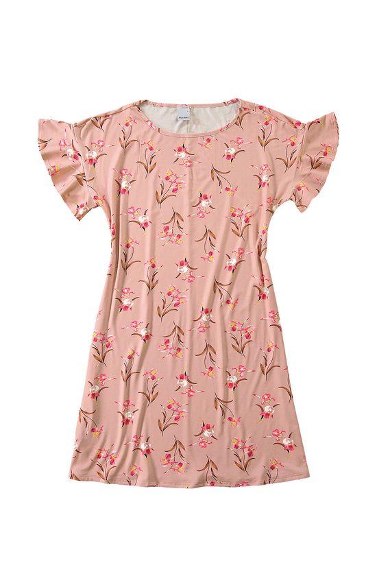 Vestido Curto Floral Malwee Rosa Claro - G