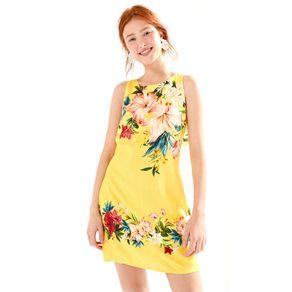 Vestido Curto Floralia Amarelo Pinoli - P