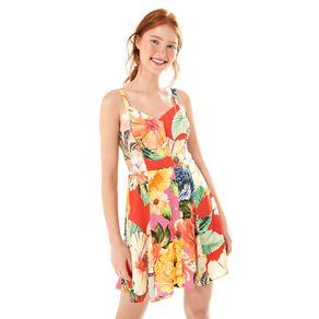 Vestido Curto Patch Chita Multicolorido - P