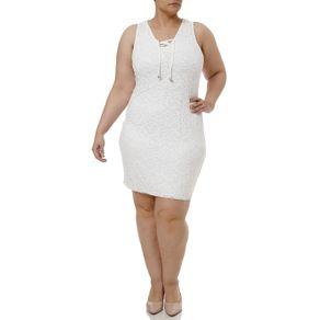 Vestido Curto Plus Size Feminino Off White G1