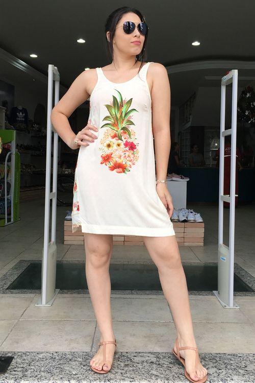 Vestido Curto Salada de Flor Farm - M