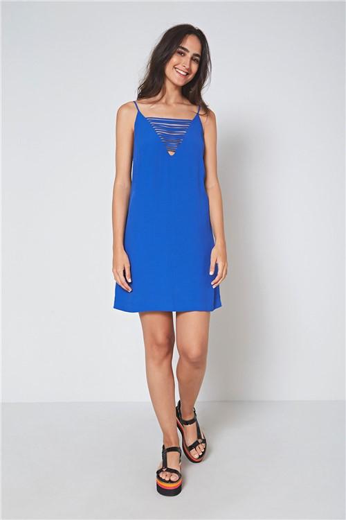 Vestido Curto Tiras Azul Pacifico - PP