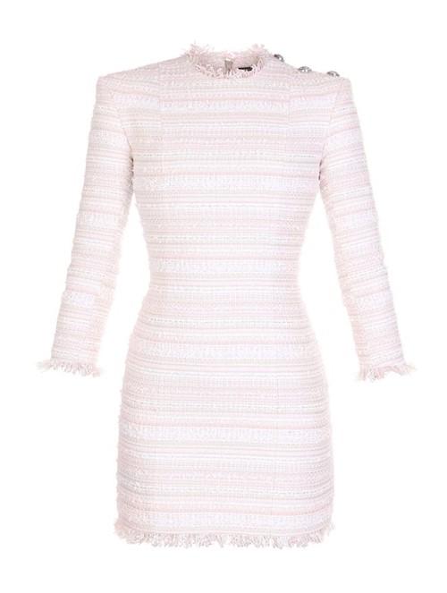 Vestido Curto Tweed Rosa Tamanho 42