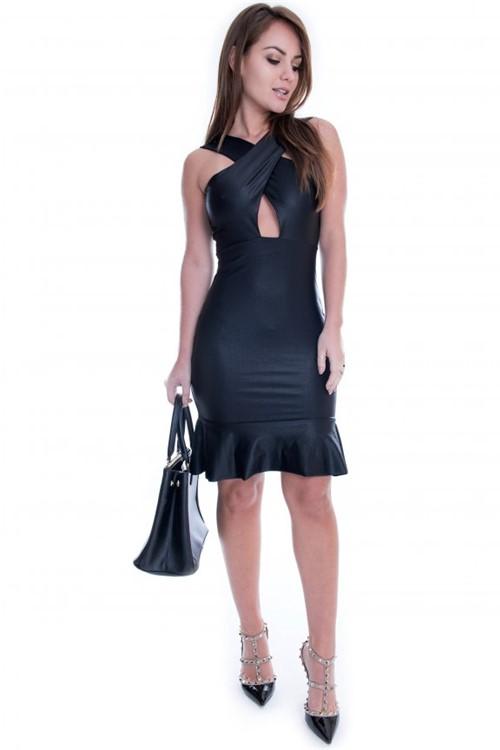 Vestido de Cirre com Decote VE1214 - M