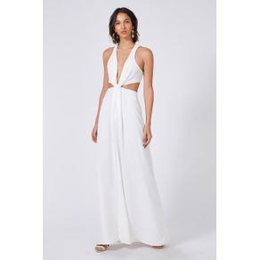 Vestido Decote Nó Off White - 36