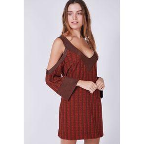 Vestido Detalhe Tricot Caramelo Lichia - P