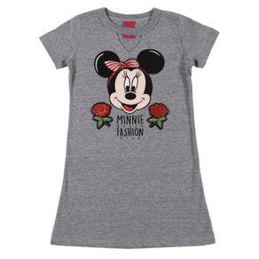 Vestido Disney Infantil para Menina - Cinza 6