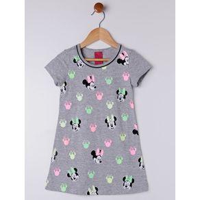 Vestido Disney Infantil para Menina - Cinza 4