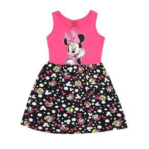 Vestido Disney Infantil para Menina - Rosa/preto 6