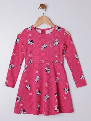 Vestido Disney Infantil para Menina - Rosa
