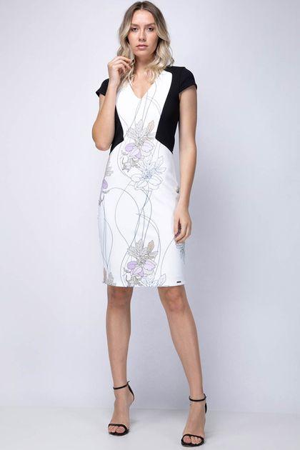 Vestido Enna Slim com Recortes