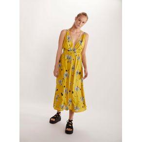 Vestido Est Floral Amarelo G