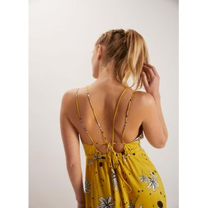 Vestido Est Floral Amarelo P