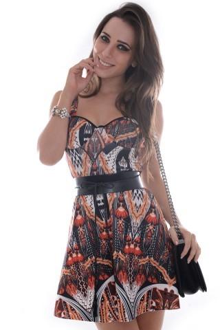 Vestido Estampado Godê VE0965 - M