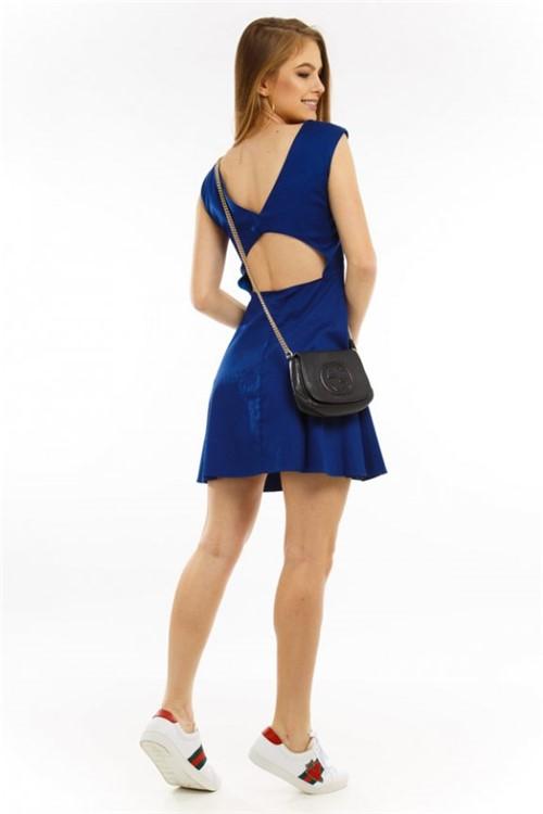 Vestido Evasê com Detalhe Nas Costas VE0356 - P