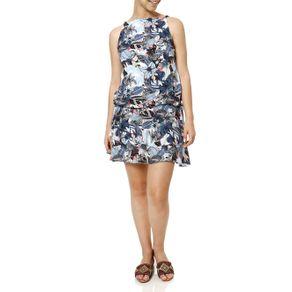 Vestido Feminino Autentique Azul M