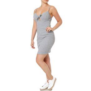 Vestido Feminino Autentique Cinza G