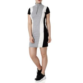 Vestido Feminino Autentique Off White/cinza G