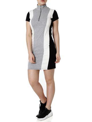 Vestido Feminino Autentique Off White/cinza