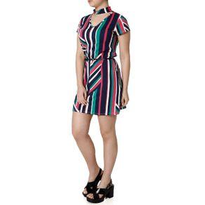 Vestido Feminino Autentique Rosa/marinho P