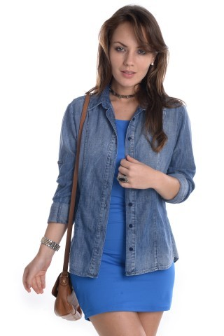 Vestido Franzido VE0399 - P