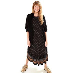 Vestido Frt Un Abacaxi Etnico Est Abacaxi Etnico_Preto - M
