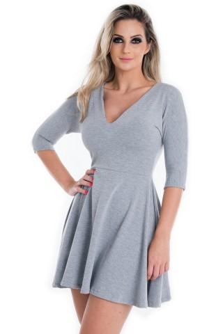 Vestido Godê com Decote V VE1352 - P