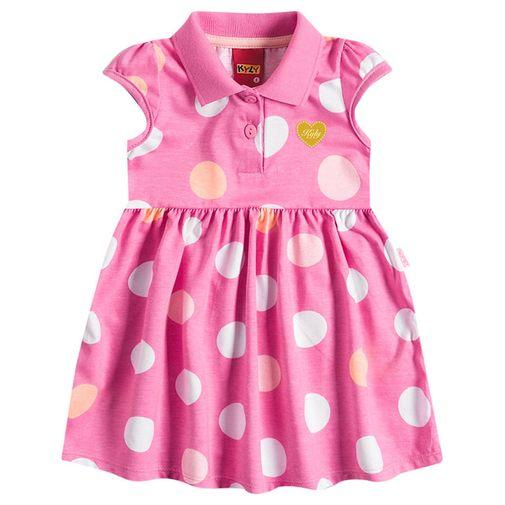 Vestido Infantil Bolinhas Rosa - Kyly P