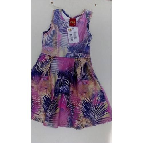 Vestido Infantil Feminino Kyly Malha Jacquard 108879
