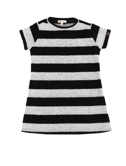 Vestido Infantil Listrado Calvin Klein Jeans Preto - 8
