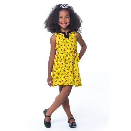 Vestido Infantil Menina Melancia -tamanho 4