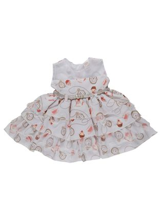 Vestido Infantil para Bebê Menina - Bege