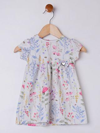 Vestido Infantil para Bebê Menina - Branco