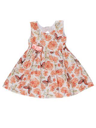 Vestido Infantil para Bebê Menina - Laranja
