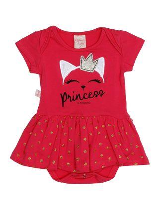 Vestido Infantil para Bebê Menina - Rosa Pink