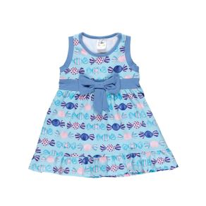 Vestido Infantil para Menina - Azul 1