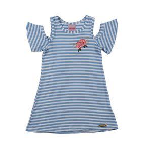 Vestido Infantil para Menina - Azul 4