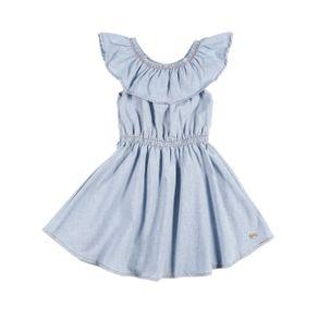Vestido Infantil para Menina - Azul Claro 1