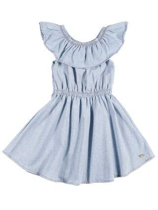 Vestido Infantil para Menina - Azul Claro
