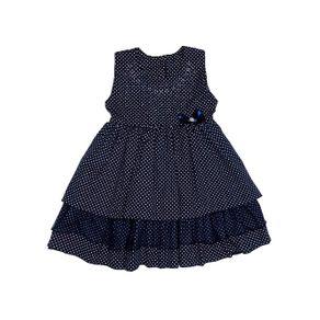 Vestido Infantil para Menina - Azul Marinho 3